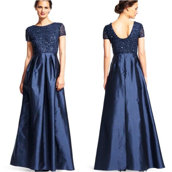 47957ba673 Adrianna Papell Dresses   Skirts - Adrianna Papell Beaded Bodice Taffeta  Gown